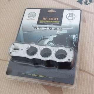 In-Car USB & Triple Socket