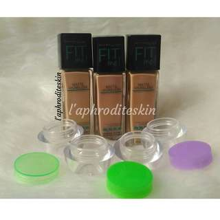 MAYBELLINE FIT ME FOUNDATION CONCEALER MATTE PORELESS SHARE IN JAR & PIPET