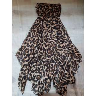 Leopard Printed Tube Dress