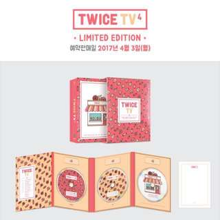[Readystock!!] Twice Tv4 Limited Edition