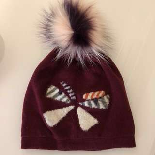 Fendi monster wool & fur beanie hat