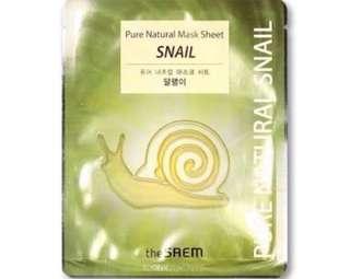Natural Snail Sheet Mask (5pcs available)