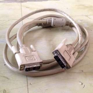 Used DVI cable Male to male 2m long