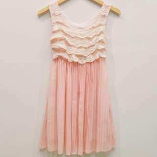 Dress lace + chiffon
