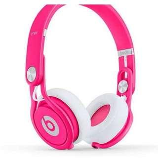 Beats Mixr Limited Edition Neon Pink Headphones