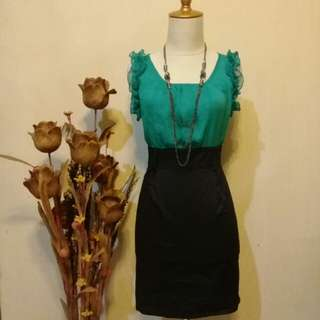 Dress hijau tosca cute 👍😍😗