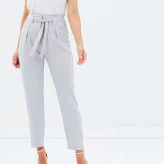 Grey paperbag waist pants
