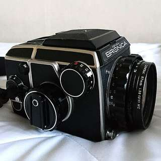 BRONICA EC with NIKKOR 75mm 2.8 lens