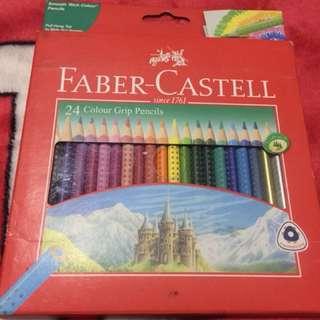 Faber Castell 24 Colour Grip Pencils