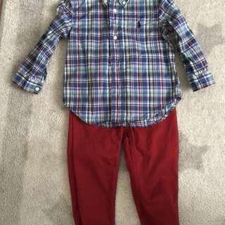 Authentic Ralph Lauren polo shirt & pants