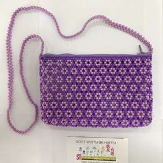 CNY MONEY PURSE (Flowers) - extended length w/sling