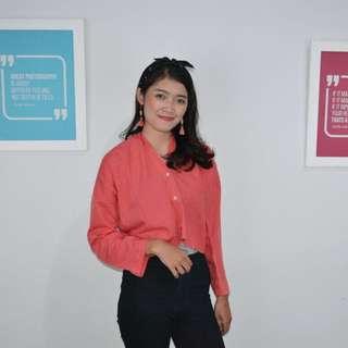 Crop blouse pink