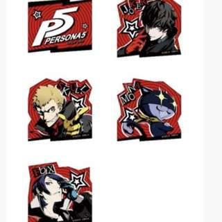 Rare Persona 5 stickers
