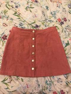 PARE BASICS PINK SUEDE SKIRT