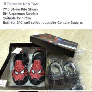 Stride rite boys shoes and Spider-Man boy sandals