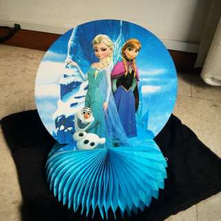 ❄️ Frozen party supplies - Frozen table top centerpiece deco / party deco
