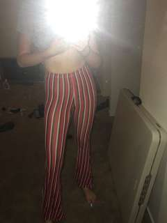 Pretty Little Thing Striped Flares