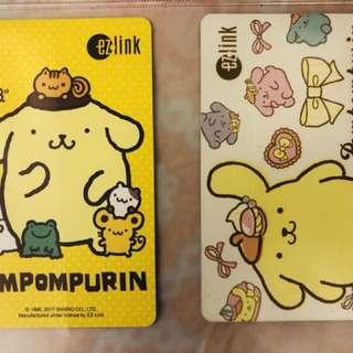 Pompompurin Ezlink Cards
