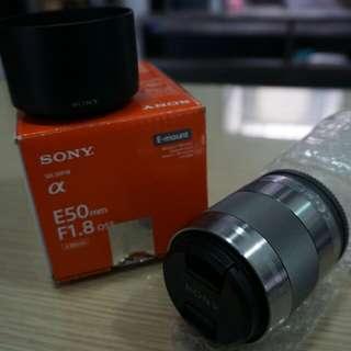 Sony e 50mm f.18