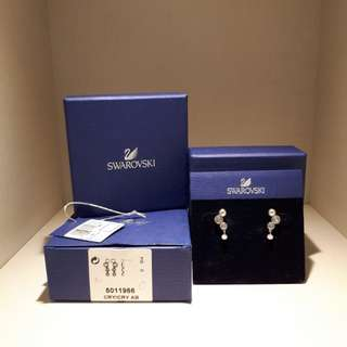 BNIB Swarovski Vanda Crystals Earrings White Rhodium Plating