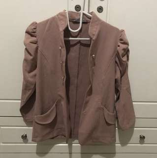 nude soft pink blazer