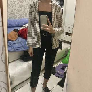 stripes blazer outer