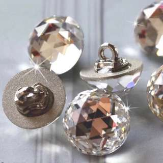 Crystal Rhinestone Buttons 12mm