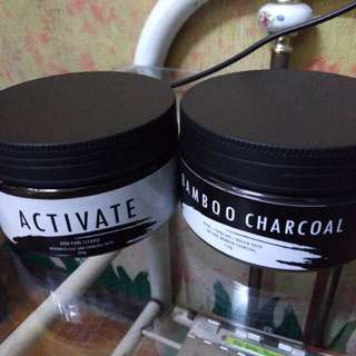 Activated Charcoal and Bamboo Charcoal Clay Mask