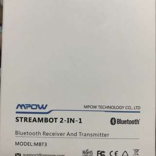 Mpow streambot 2 in 1 Bluetooth receiver and transmitter