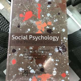 Social Psychology in the Philippine Context