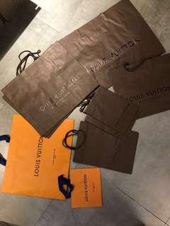 Louis Vuitton LV Paper Bag 明牌紙袋 (特大/大/中/細size)