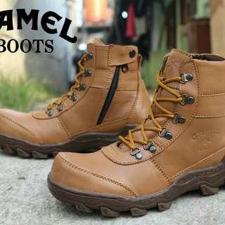Sepatu boots safety kulit