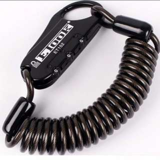 Helmet Lock Bicycle Safe Motorcycle Cable Number Combination