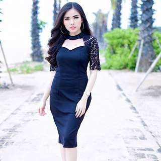 iconette closet black lace dress