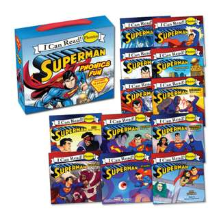 BRAND NEW Superman Classic: Superman Phonics Fun (Includes 12 Books) (My First I Can Read) Paperback – Box set