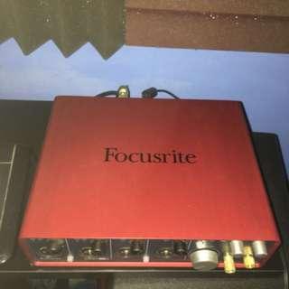 Scarlett 18i8 Audio Interface, Yamaha Hs7 Studio Monitors and Korg Microkeys