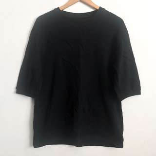 F21 Oversized Half Sleeve Shirt