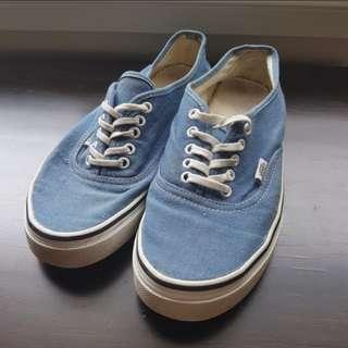 Vans Canvas Skate Shoes - Light Blue