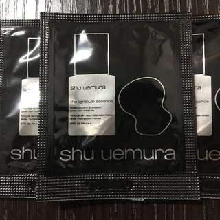 3包Shu uemura 粉底 the lightbulb essence foundation