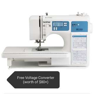 Brother 130-stitch +55 alphabets Computerised Sewing Machine XR1355