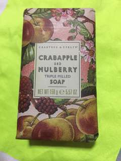 Crabtree and Evelyn Crabapple and Mulberry Triple Milled Soap