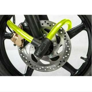 HI-VISIBILITY ARMOR CABLE LOCK GIVI - Security Lock Motorcycle