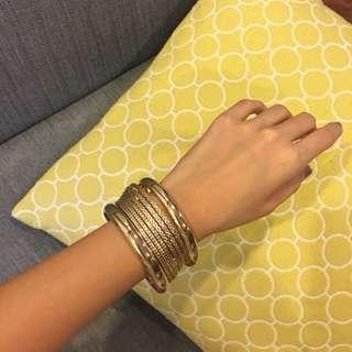 New Forever 21 Gold Bangle Set