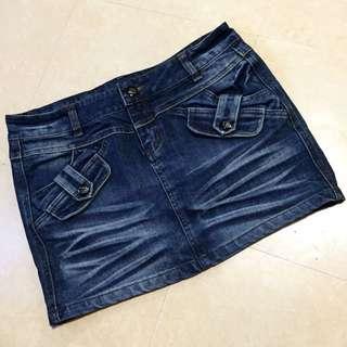 🚚 ‼️降價‼️ 刷色  厚磅 牛仔短裙