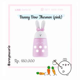 NEW Bunny Bow botol thermos pink 300mL