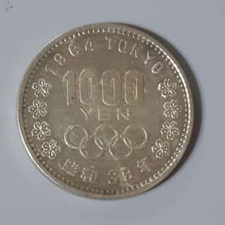 1964年東京奧運紀念幣 1000yen