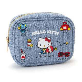 Hello Kitty Embroidery Cosmetic Pouch