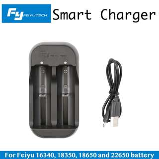 Feiyu Smart Charger for Feiyu 16340 18350 18650 and 22650 | Charging 2 pieces battery at a time