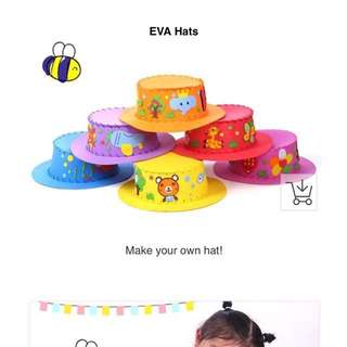 EVA hat Arts and Crafts Activity