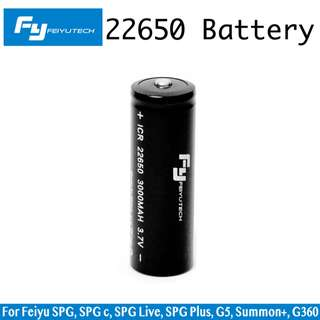 Feiyu 22650 Battery for Feiyu SPG SPG c SPG Live SPG Plus G5 Summon+ G360 (3.7V 3000mAh)